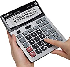 XINPENGFA Office Calculator,12-Digit Battery Dual Powered Handheld Electronic Business Solar Basic Calculator, Desktop Financial Scientific Simple Desk Calculators with Large LCD Display