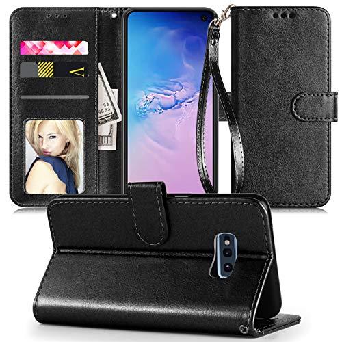 Samsung Galaxy S10E Case,Galaxy S10 E Cell Phone Case Wallet,Galaxy S 10E Case,[Kickstand][Card Slots][Wrist Strap] Shockproof Protective