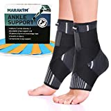 Premium Ankle Compression Socks Men & Women | Best Free Size Medical Ankle Support Pair(2 Pcs) With...
