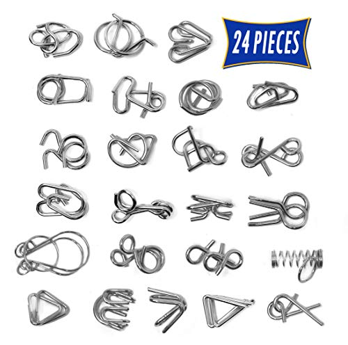 Brain Teasers Metal Wire Puzzle Toys - Assorted Metal Puzzle Toys for Gifts, Party Favors, Prizes,...