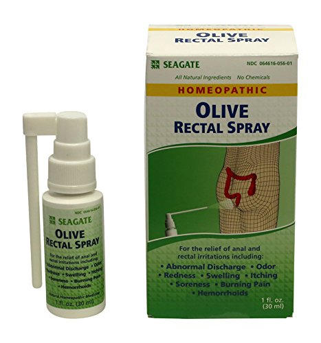 Seagate Products Homeopathic Olive Leaf Rectal Spray 1 Ounce 1-Pack