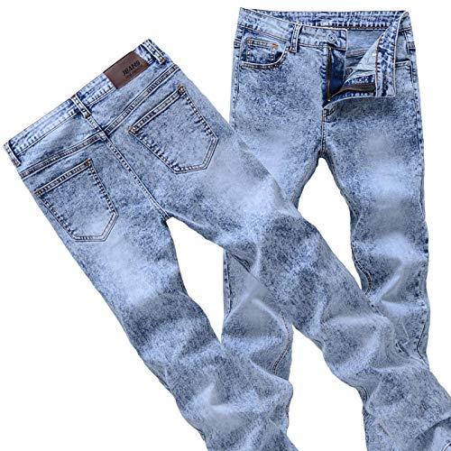 Vaqueros para Jeans Pantalones Pantalones Vaqueros Ajustados para Hombre Pantalones Vaqueros De Mezclilla Gris/Azul Pantalones Lápiz para Hombre Pantalones Vaqueros De