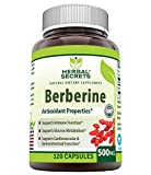 Herbal Secrets Berberine 500 mg 120 Capsules (Non-GMO) - Supports Immune Function, Glucose Metabolism & Cardiovascular and Gastrointestinal Function*
