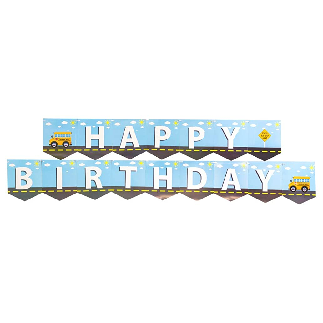 School Bus Jointed Banners, School Bus Party Supplies, School Bus Birthday Banner, Party Decorations, Hanging Room Decorations