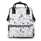 Terrazzo - Mochila de viaje para pañales de bebé, diseño vintage, color azul...