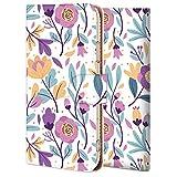 Galaxy A32 5G ケース 手帳型 ギャラクシーA32 カバー スマホケース おしゃれ かわいい 耐衝撃 花柄 人気 純正 全機種対応 紫のコウシンバラの花 シンプル ファッション フラワー 7215420