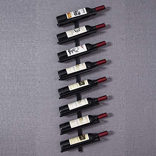 Estante para Vino Estantes para Vino De Pared Soporte para Botellas De Vino, Estantes De Exhibición De Vino Estante para Vinos Modular De Metal, para Whisky, Ginebra, Agua, Botellas De Vodka,Negro