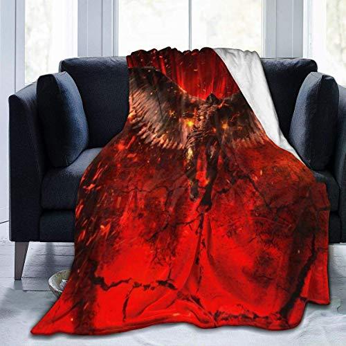 SciFi TV Lucifer - Manta de franela de microfibra, súper suave, de lujo, adecuada para cama, sofá, viajes, cuatro estaciones, manta de 80 x 60 pulgadas