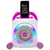 RockJam Party Macchina per Karaoke con Bluetooth, Altoparlante da 10 Watt e Due Microfoni, Rosa