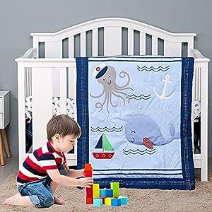 51WrgvILHnS._SS300_ Nautical Crib Bedding & Beach Crib Bedding Sets