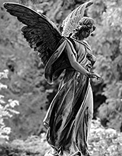 Photography Poster - Angel, Statue, Figure, Cemetery, Gloss Finish
