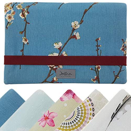 Windeltasche für unterwegs, kleine Wickeltasche für Windeln & Feuchttücher, Windeletui, Wickelmäppchen SmukkeDesign (Japan Blüten & Kirsche)