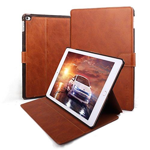Mulbess Leder Hülle für iPad Air 2 Gen Schutzhülle, iPad Air 2 Lederhülle, Slim Cover PU Lederhülle mit Standfunktion Kompatibel für iPad air 9.7 inch (2017/2018) Tasche, Braun