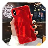 Para iPhone 6, 6S, 7, 8 X XS MAX XR Bling 3D Diamond Case Para Samsung Galaxy S7 S8 S9 S10 Edge Lite Plus J2 J5 J7 -Rojo - Para iPhone 6