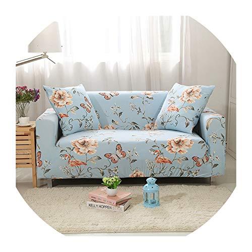 Nihaoma 1/2/3/4 Sitzsofabezüge Stretch für Wohnzimmer Elastic Couch Abdeckungen Vollumwickelte Slipcovers Staub-Beweis-Sofa,Farbe 4,2-Seater 145-185Cm