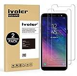 ivoler [Pack de 2] Verre Trempé Compatible avec Samsung Galaxy A6 2018 [Garantie à Vie], Film...