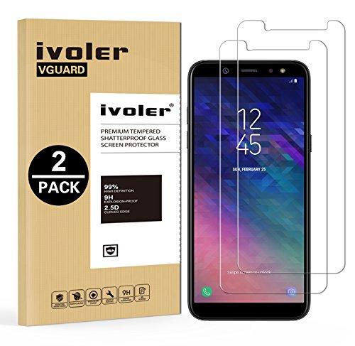 ivoler [2 Unidades] Protector de Pantalla Compatible con Samsung Galaxy A6 2018, Cristal Vidrio Templado Premium [Dureza 9H] [Anti-Arañazos] [Sin Burbujas]