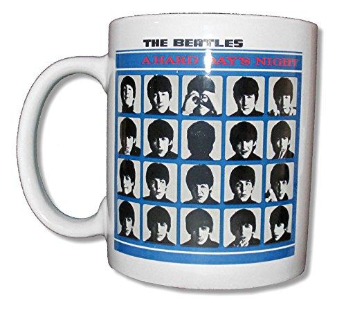 The Beatles 'Hard Day's Night' White Ceramic Collectible Coffee Mug