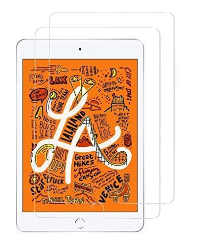 TECHKUN [2 Stück Schutzfolie Kompatibel mit iPad Mini 5 (2019) & iPad Mini 4, Panzerglas Bildschirmschutzfolie