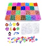 Panaoxf Colorful Rubber Band Bracelet Loom Refill Kit for Kids with Storage Case Box 5800+ pcs