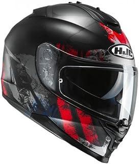 HJC Helmet Motorrad-Helm IS-17 Shapy, Black/Red, Größe XL