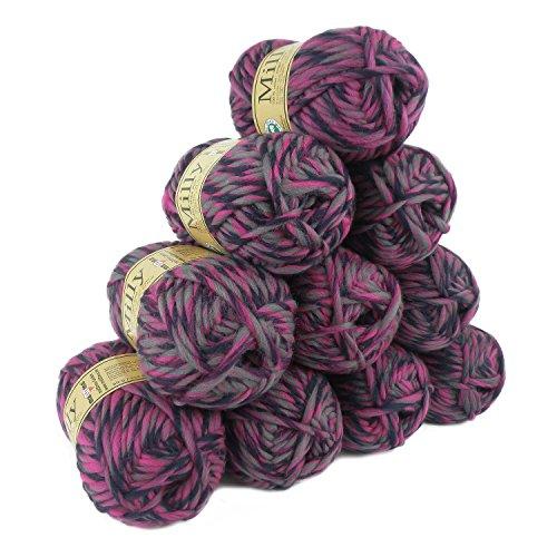 500g Filzwolle Milly Wolle zum Strickfilzen 100% Schurwolle, große Farbwahl, Farbe:114 Diva