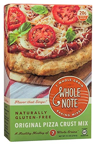 Whole Note Pizza Crust Mix, 7-Whole-Grain and Naturally Gluten-Free (Pack of 3)