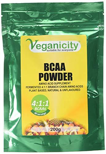 Veganicity BCAA 4:1:1 Amino Acid Supplement Powder, 200 g, Count-40