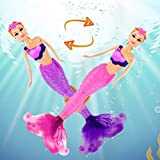 12'' Magic Color Changing Mermaid Doll, My Dream Mermaid Princess with Color Chang Tail, Mermaid Toys Gifts for Girls Kids 3 to 7 Year Olds