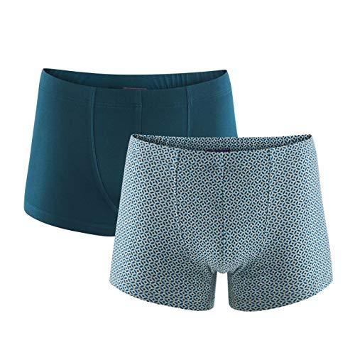 Living Crafts Pants, 2er-Pack XXL, Grey Melange/Petrol