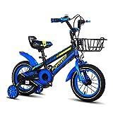 FUFU Bicicleta De Los Niños con El Entrenamiento Desmontable Ruedas 12/14/16/18 Pulgadas De La Bici del Camino For Niños Y Niñas 2-13 Años De Edad, Color Opcional (Color : Blue, Size : 12in)