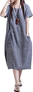 [セカンドルーツ] バルーン ワンピース ふんわり 半袖 コクーン 体型カバー レディース M~2XL