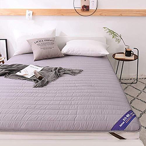 ZLJ Colchón de futón japonés colchón de Suelo de Tatami Plegable de algodón Tradicional de futón Shiki para Dormir y Viajar Gris 180x200cm (71x79inch)