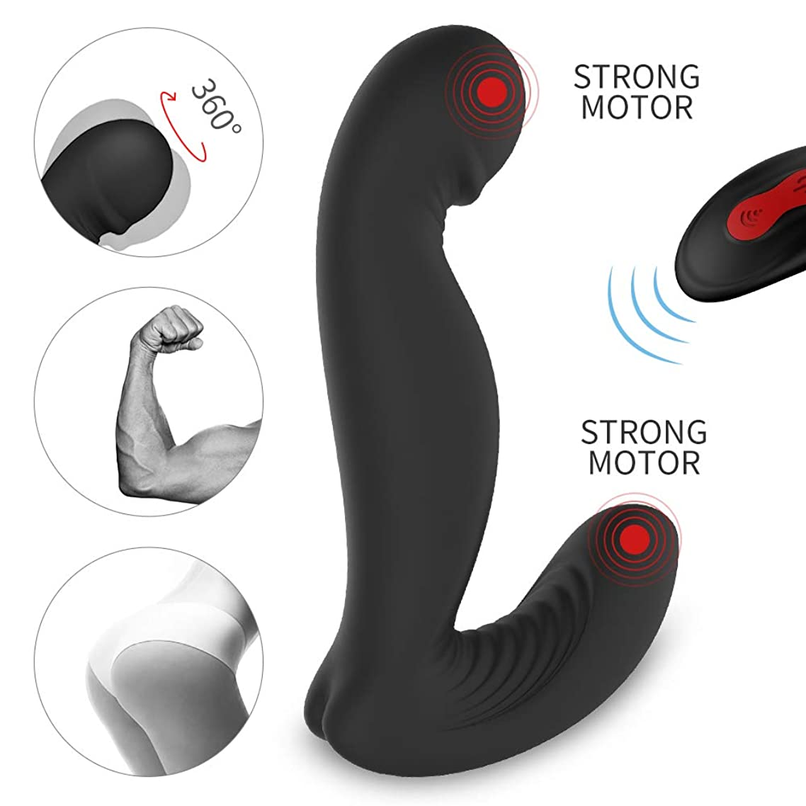 yishunmaoyi Personal Cordless Handheld Wand Massager,Powerful Quiet Magic Rechargeable Wireless Waterproof Vibrating Massager-Mini for Therapeutic Foot Scalp Back Waist Neck Muscle Aches Toy Gifts