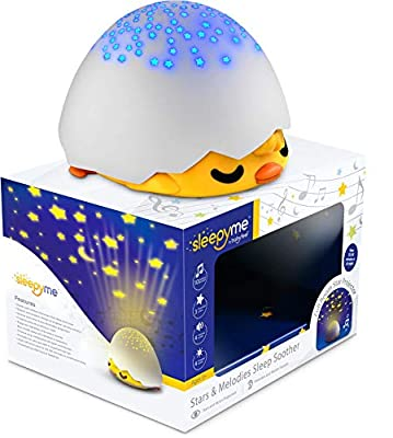 SleepyMe Smart Sleep Soother   White Noise Sound Machine   Baby & Toddler Star Projector   USB Cord or Batteries   Runs 30min, 60min or All Night   Baby Gifts   Portable Sleep Aid Night Light for Crib from Babyfeel