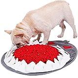 TANGN Snuffle Mat para Perro Alfombra olfativa Perros, Alfombra de Actividades para Mascotas Tapete de Entrenamiento Alfombra Olfato Perro Pet Nariz Trabajo Olor Alimentación Lento para Gato Gris