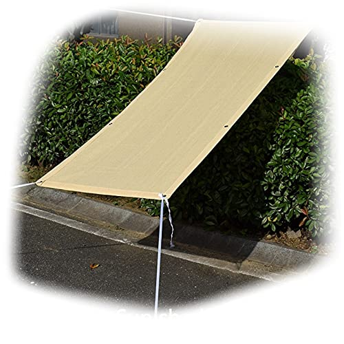 AMDHJ Velas de Sombra, con protección UV, Material de HDPE Impermeable Resistente al Calor, Ojales Reforzados (Color : Beige, Size : 3x5m)