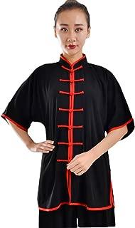 ZooBoo Unisex Cotton Blend Short Sleeves Tai Chi Suit Morning Exercise Uniform Kung Fu Clothing