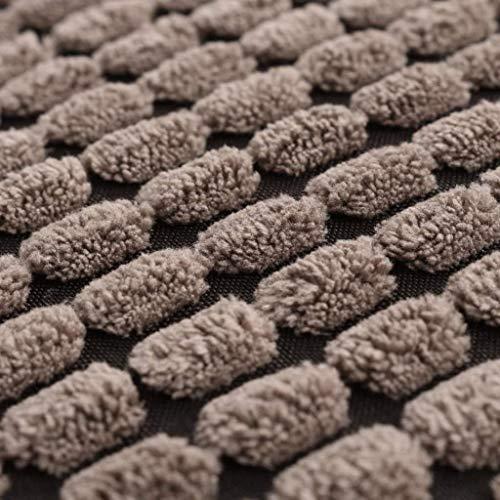 Xingshuoonline Lot de 2 taies d'oreiller Coussin déco Velours Marron 45 x 45 cm