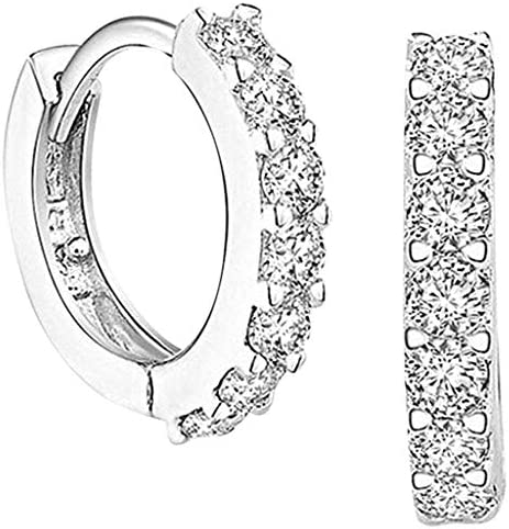 TT Louis Modern Personality Simple Classic Rhinestone Earring Ring Circle Small Exquisite Valentine product image