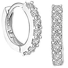 🎁MATERIAL - The tiny ring cartilage earrings hoop set made of 925 sterling silver Platinum plated which is nickel free, lead free,hypoallergenic and does not readily corrode, rust, or stain with water 🎁THE STYLE - These earrings are classy to fit wit...