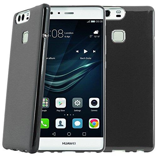 ebestStar - Funda Compatible con Huawei P9 Plus Carcasa Transparente Silicona Gel Estuche Flexible, Negro [Aparato: 152.3 x 75.3 x 7mm, 5.5'']