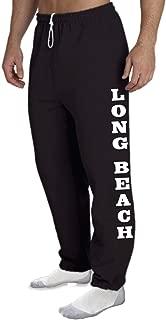 STUFF WITH ATTITUDE Long Beach Open Bottom Black Sweat Pants