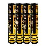 18650 Batería de Litio Recargable 3.7V 4000mAh Baterías de botón de Gran Capacidad para Linterna LED, iluminación de Emergencia, Dispositivos electrónicos, etc. (8 Piezas)