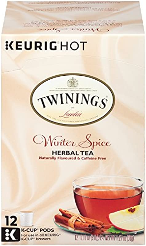 Twinings Of London Winter Spice Tea K Cups For Keurig 12 Count