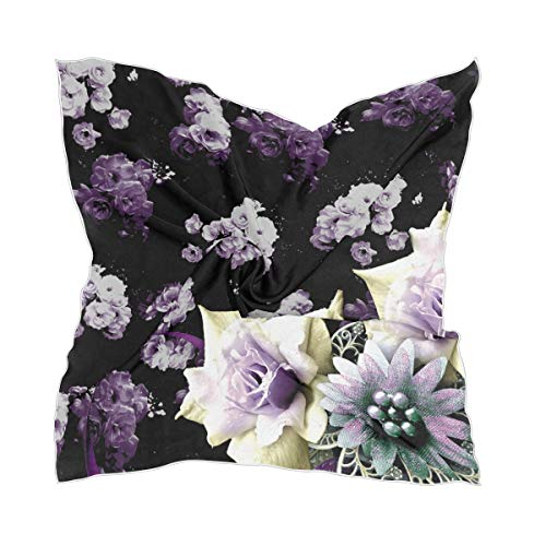 Chiffon zakdoek meisjes hoofddeksel dunne zijden sjaal sheer prachtig bloemenpatroon