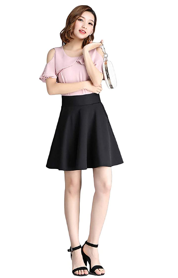 ミニ影響するスカープ[エムズ ミミ] 無地 シンプル ミニ スカート ポケット 付き レディース 選べる長さ ブラック ホワイト M~XXL