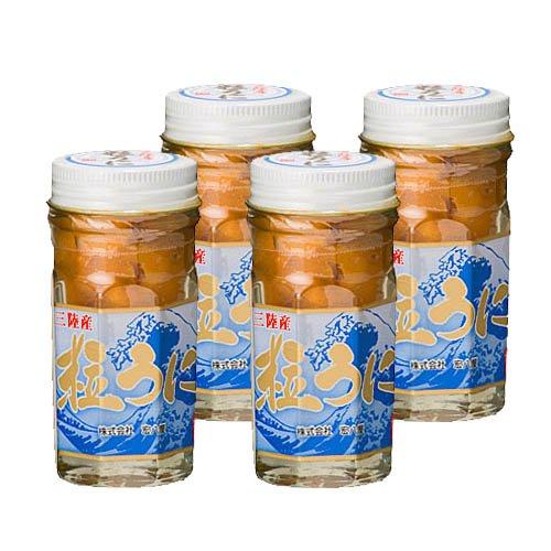 宏八屋 岩手県産 粒うに(塩ウニ) キタムラサキウニ ビン詰 60g 4本セット
