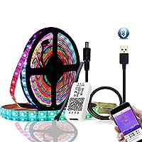 Bluetooth USBAPPコントロールRGB個別アドレス指定可能なLEDストリップキット間接照明ホーム装飾用 (Size:1M; Color:Photo Color)