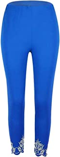 Agana Women High Waist Stretchy Ankle Length Yoga Hollow Out Leggings Pants